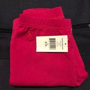 RL Girls Hot Pink Bow Back Leggings - Size 7